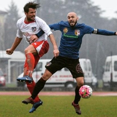 La foto presente su Facebook - Da sinistra Omar Dallari della Folgore e Fabio Galli della Fidentina
