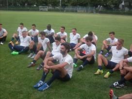 La squadra ascolta Vacondio con la massima attenzione