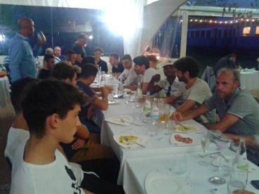 Mattioli con la squadra